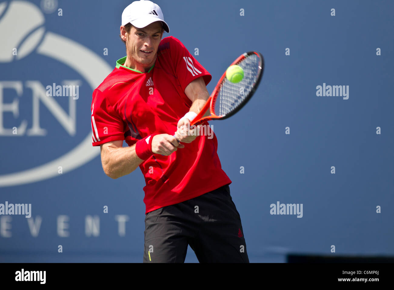 Andy Murray (GBR) competing at the 2011 US Open Tennis. - Stock Image