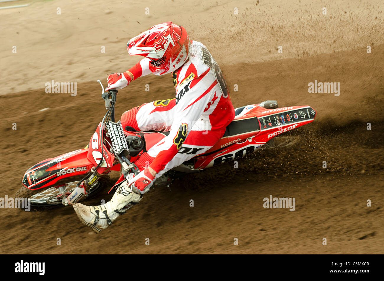 Brad Anderson during the English Motocross championship, 2011 - Stock Image