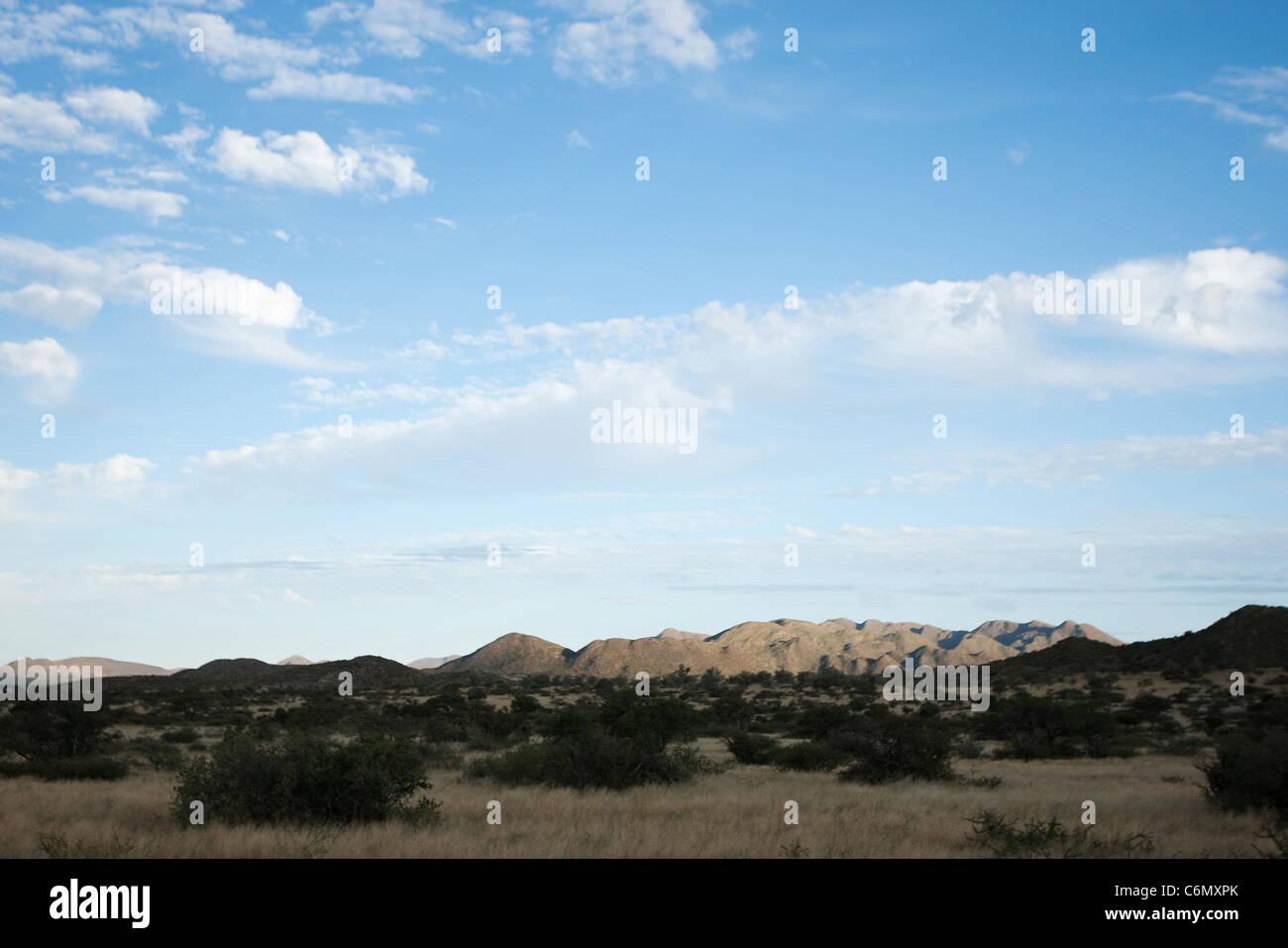 Koranaberg landscape with cloudy sky - Stock Image