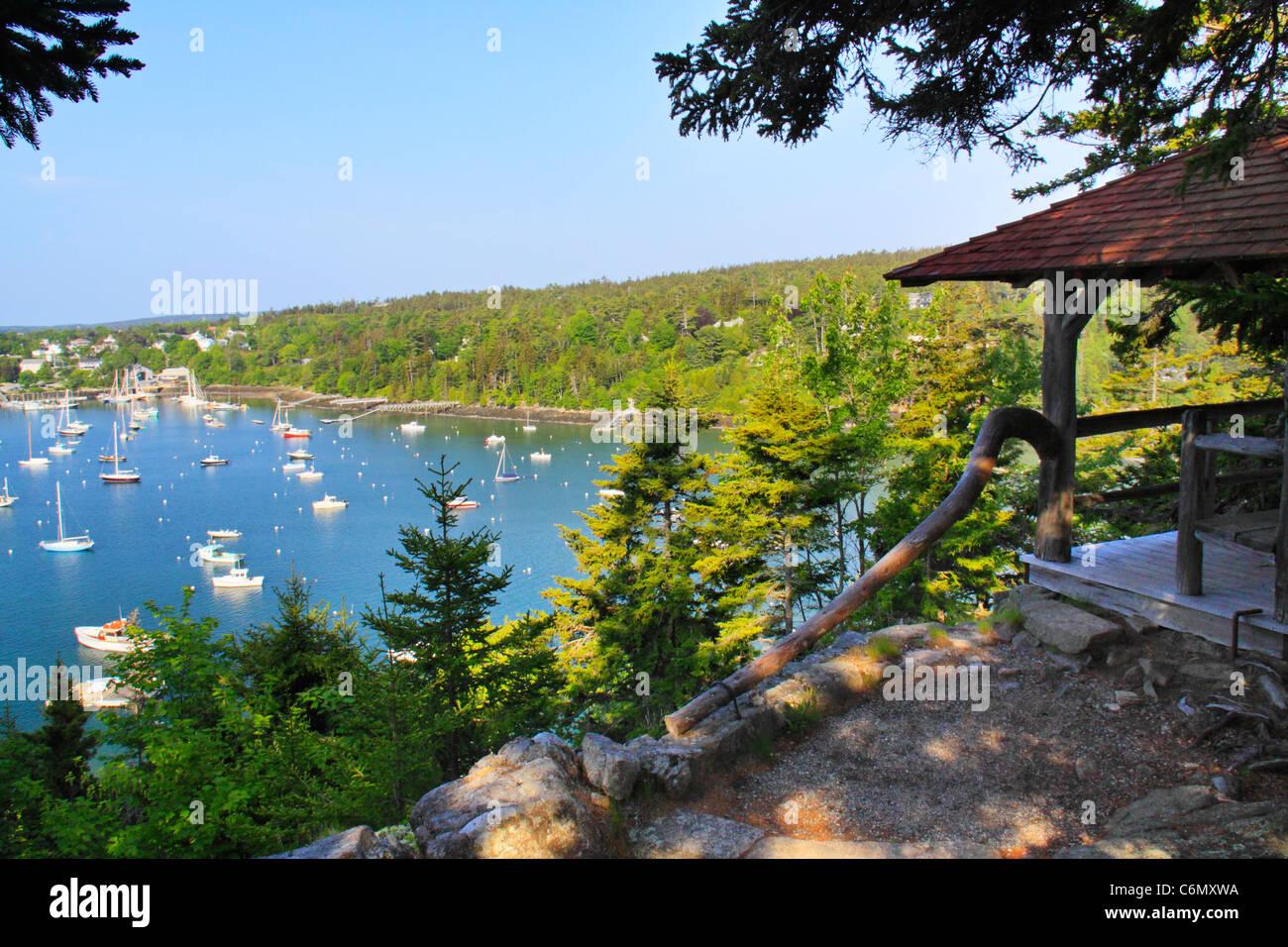 Asticou Terraces, Northeast Harbor, Mount Desert Island, Maine, USA - Stock Image