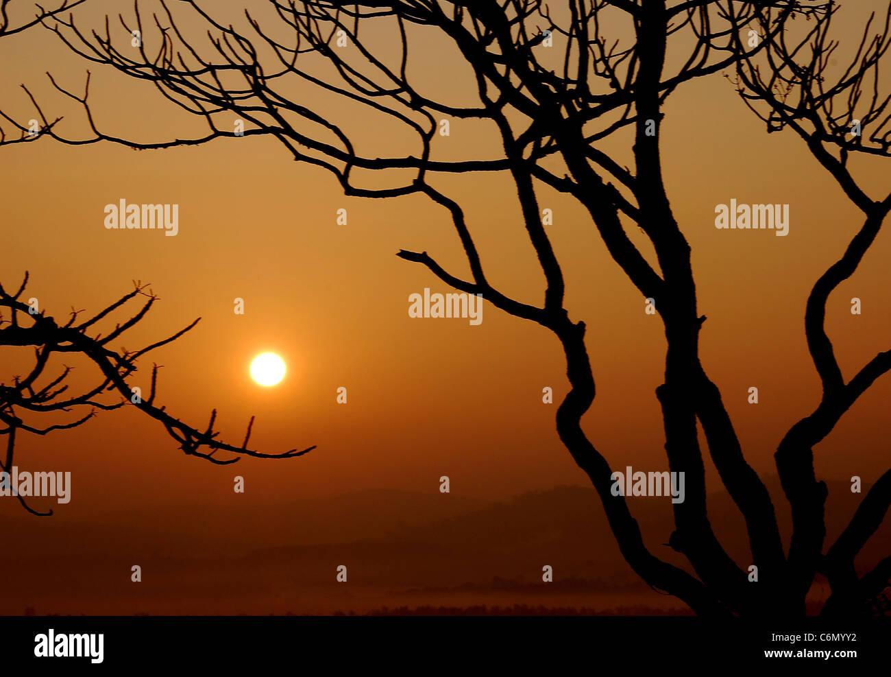 sun rise - Stock Image