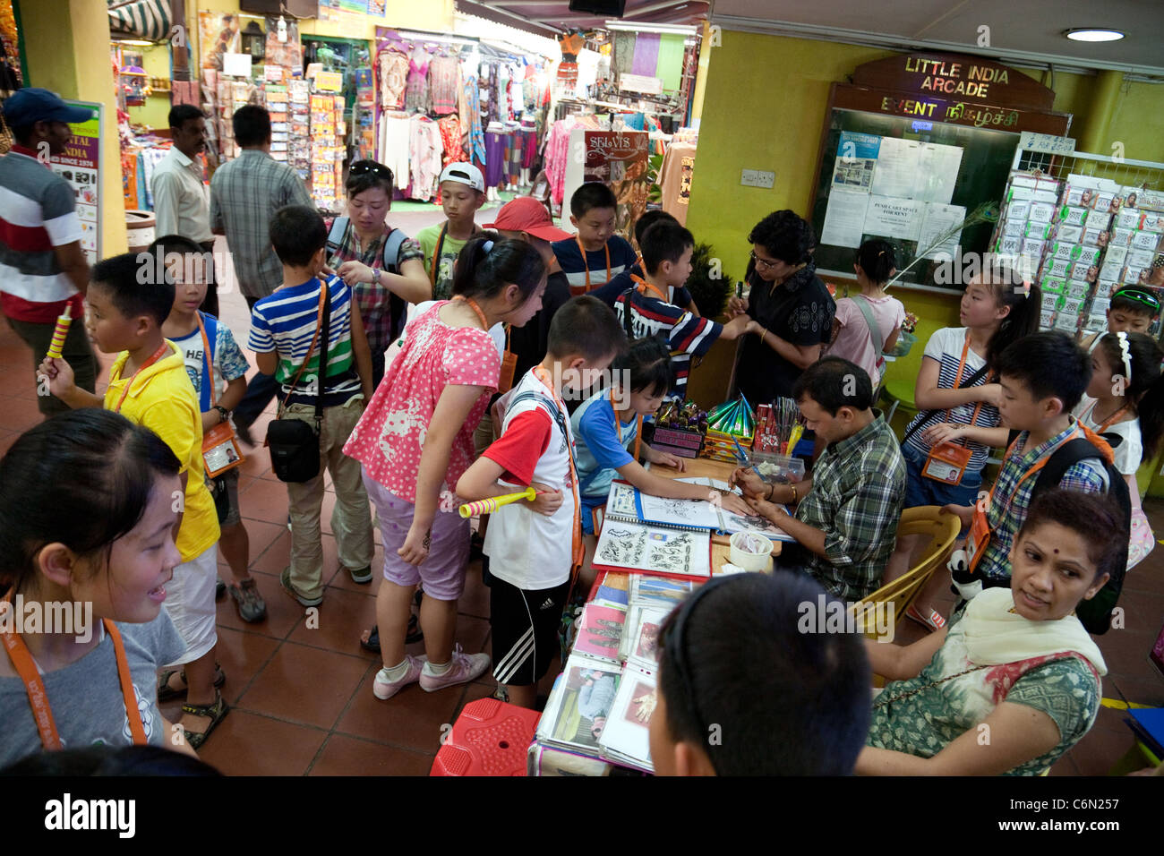 Singapore Trip Stock Photos Images Alamy Schoolchildren On A School To Little India Asia Image