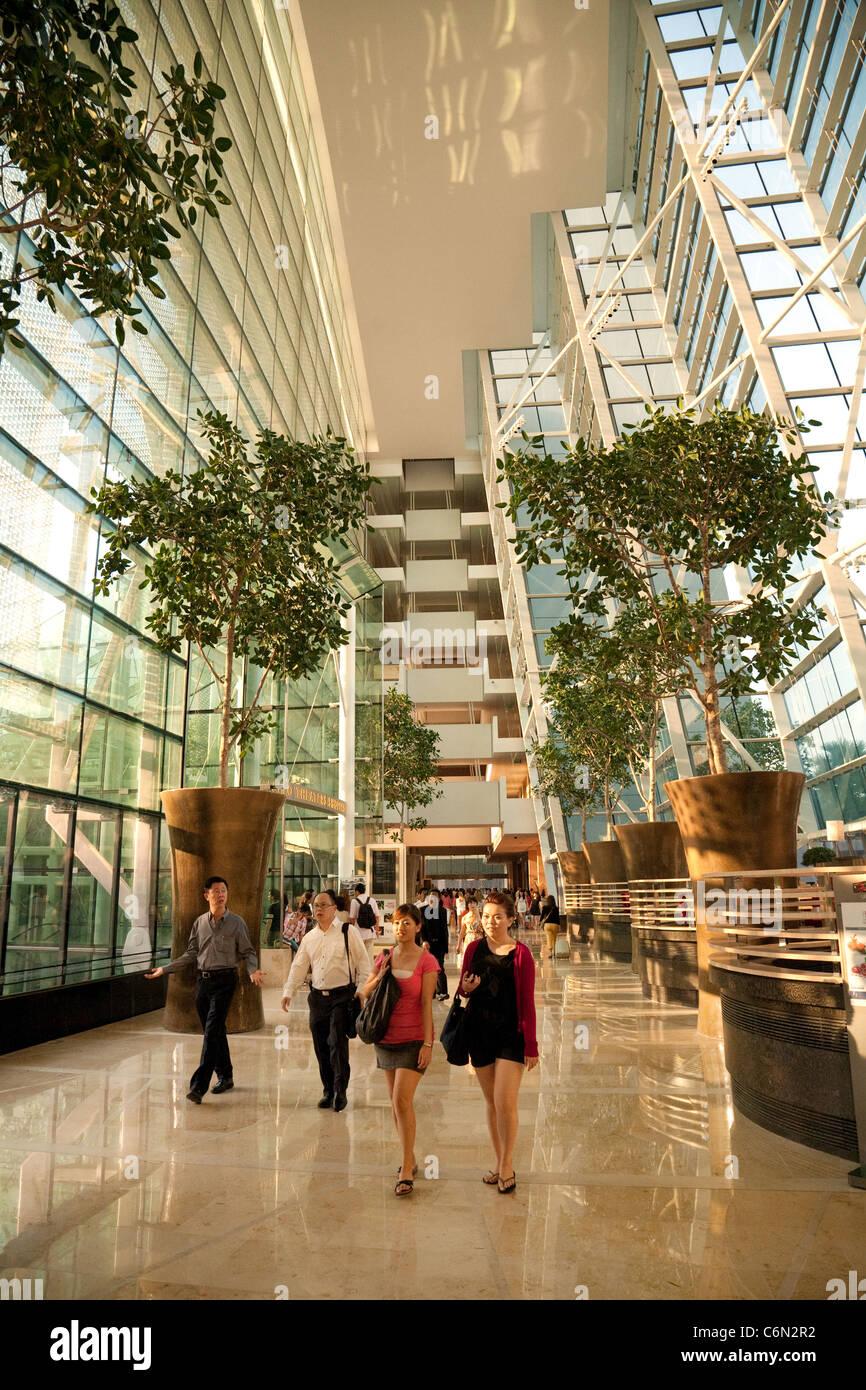 Ground floor, inside the Marina Bay Sands hotel, Singapore Asia - Stock Image