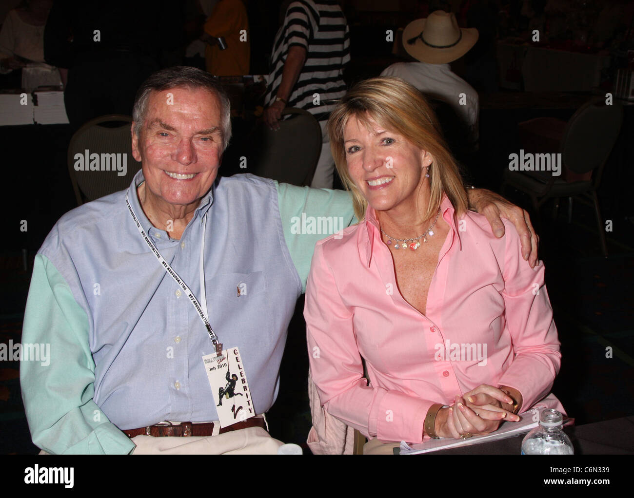 Peter Marshall and Laurie Marshall The Hollywood Show at the Marriott Hotel in Burbank Los Angeles, California, - Stock Image
