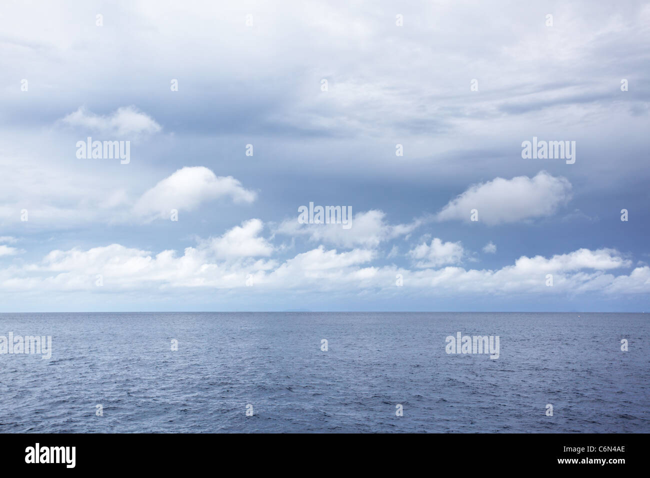 Sea at overcast day, may be used as background - Stock Image