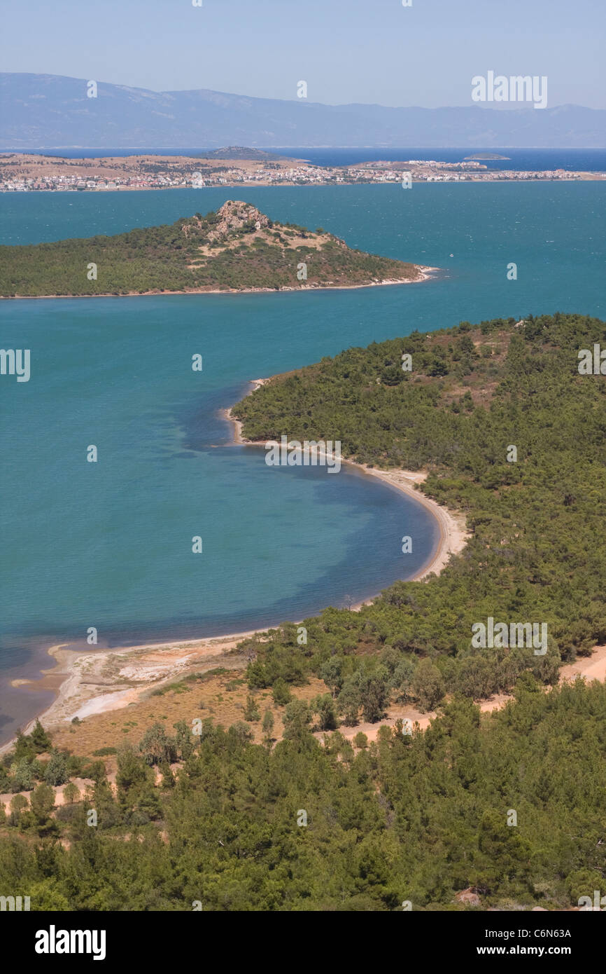 Beautiful coast view in Ayvalik Turkey - Stock Image