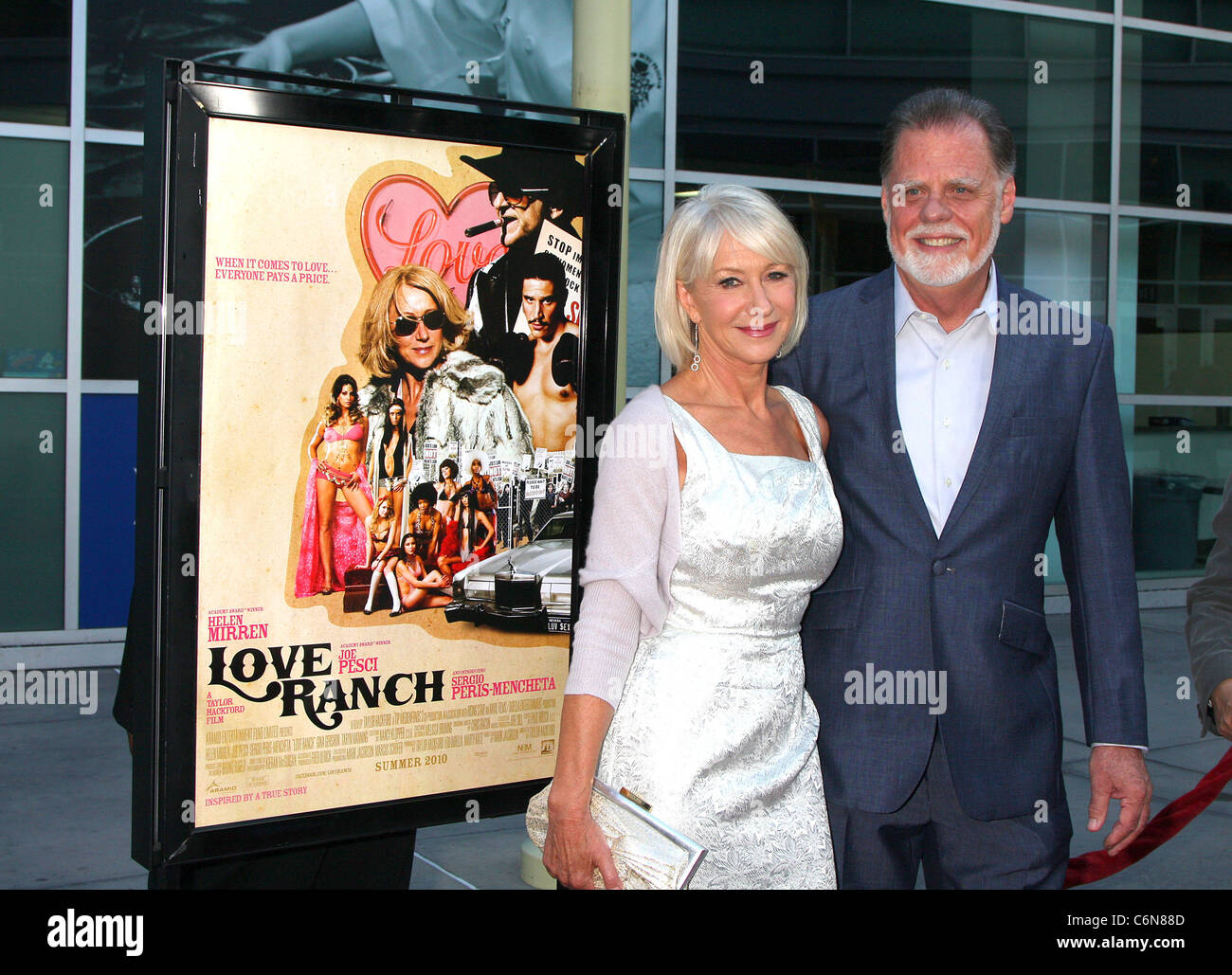 Helen Mirren Taylor Hackford The Love Ranch La Premiere At The Arclight Theatre Hollywood California