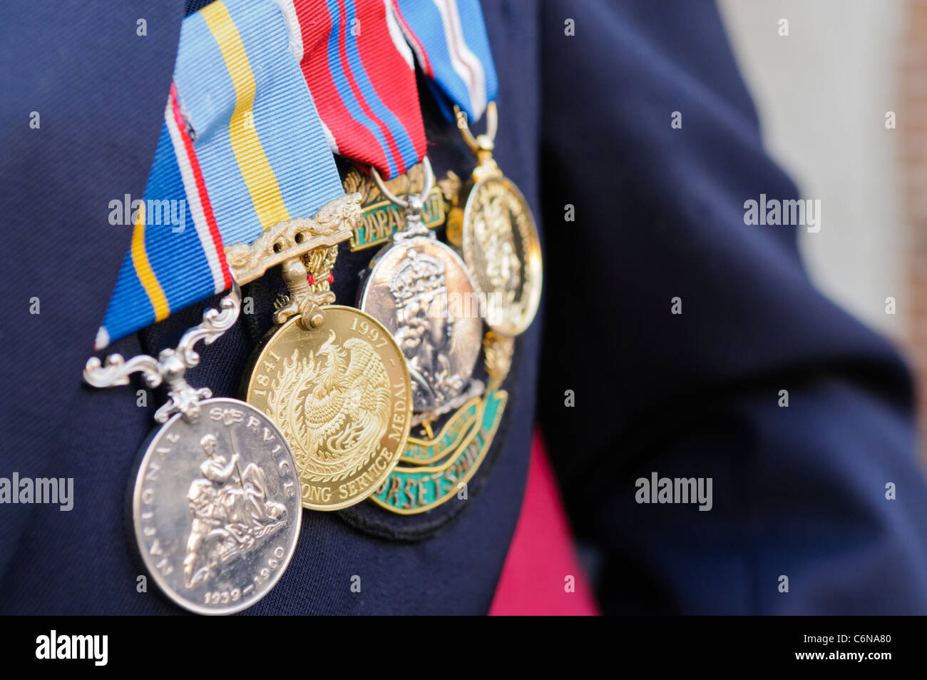Service fire medals how to wear