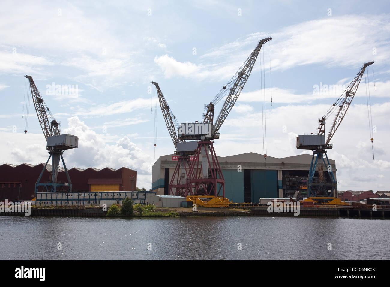 BAE Systems Govan shipbuilding yard, Govan, Glasgow. Photo:Jeff Gilbert - Stock Image