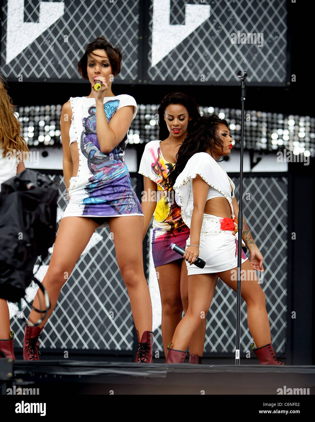 The Saturdays T4 On The Beach 2010 at Weston-super-Mare Somerset, England - 04.07.10 Shaun Bailey - Stock Image
