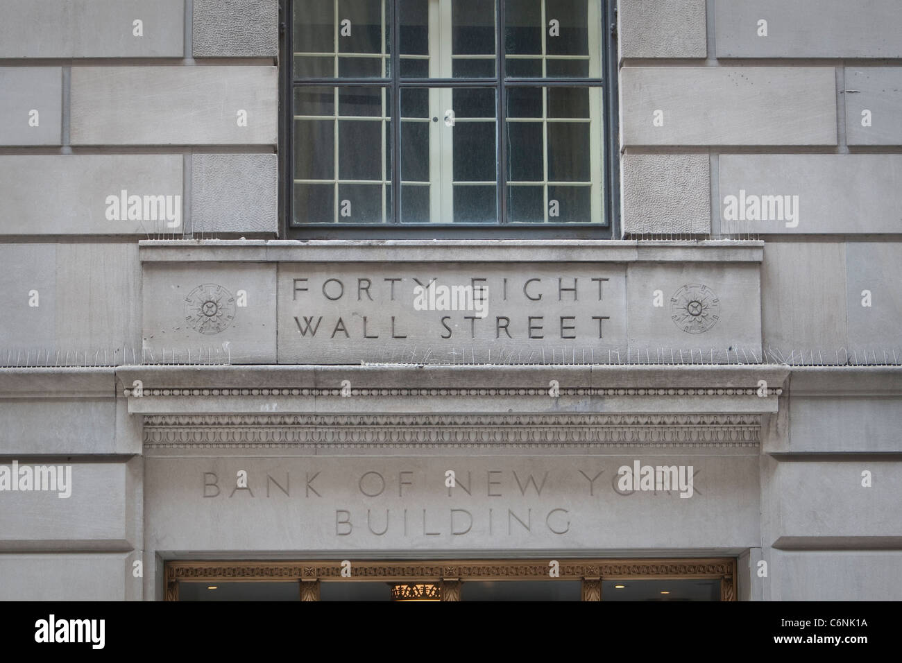 48 Wall Street building is pictured in New York, NY, Thursday August 4, 2011. Stock Photo