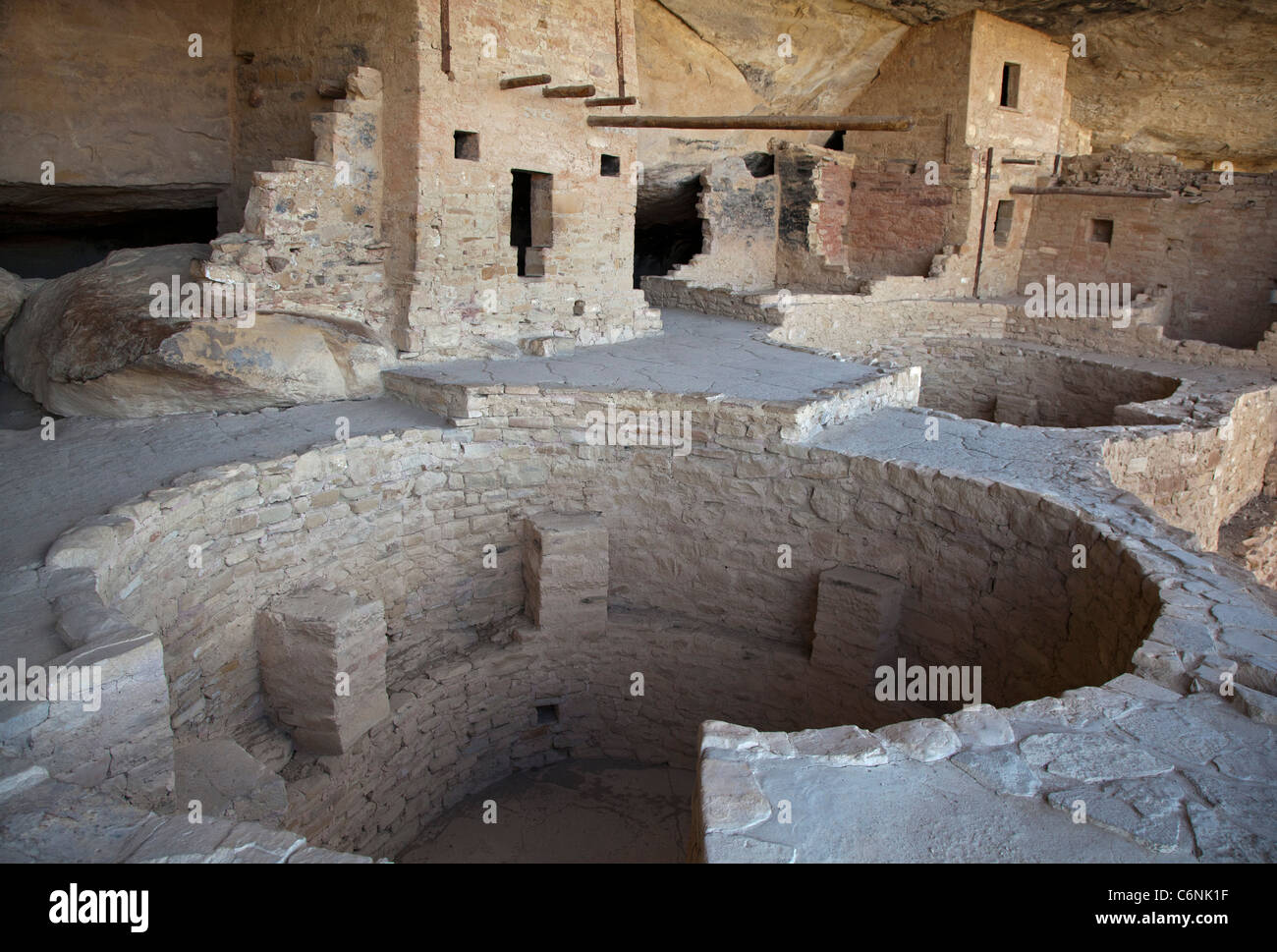 Balcony House cliff dwelling at Mesa Verde National Park - Stock Image