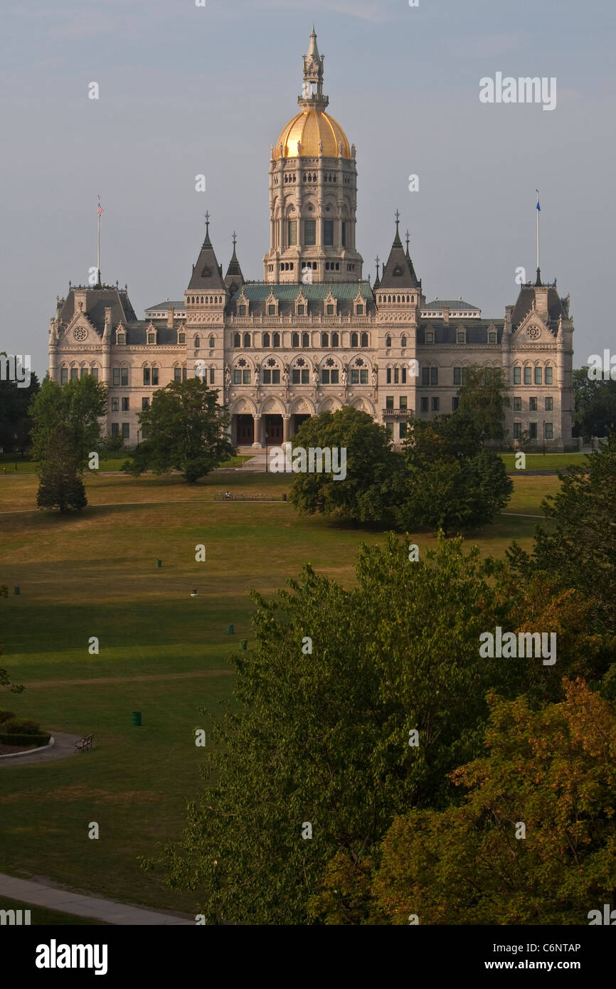 The Connecticut State Capitol is pictured in Hartford, Connecticut, Saturday August 6, 2011. - Stock Image
