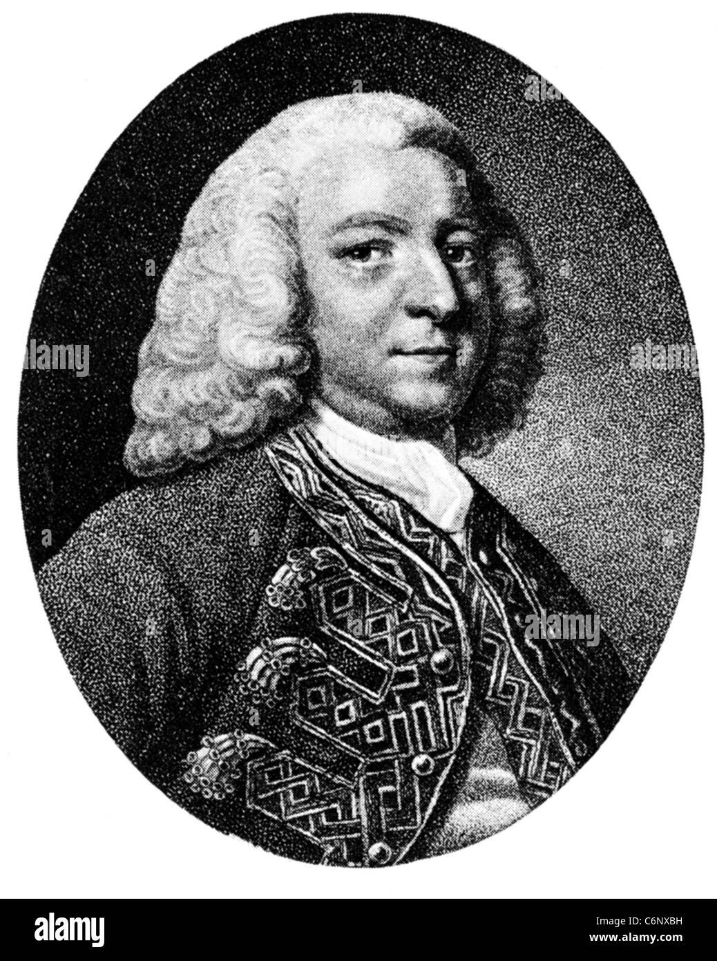 GEORGE ANSON (1697-1762) British admiral who circumnavigated the globe - Stock Image