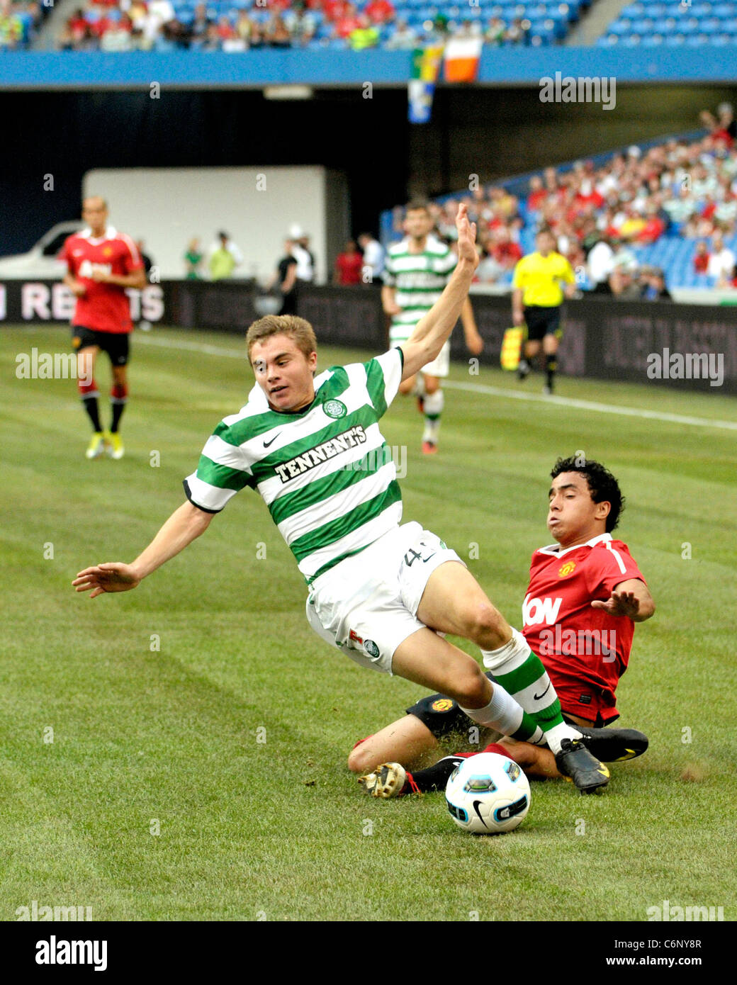 Rafael and James Forrest Manchester United vs Celtic FC pre-season friendly match at the Rogers Centre during Manchester - Stock Image