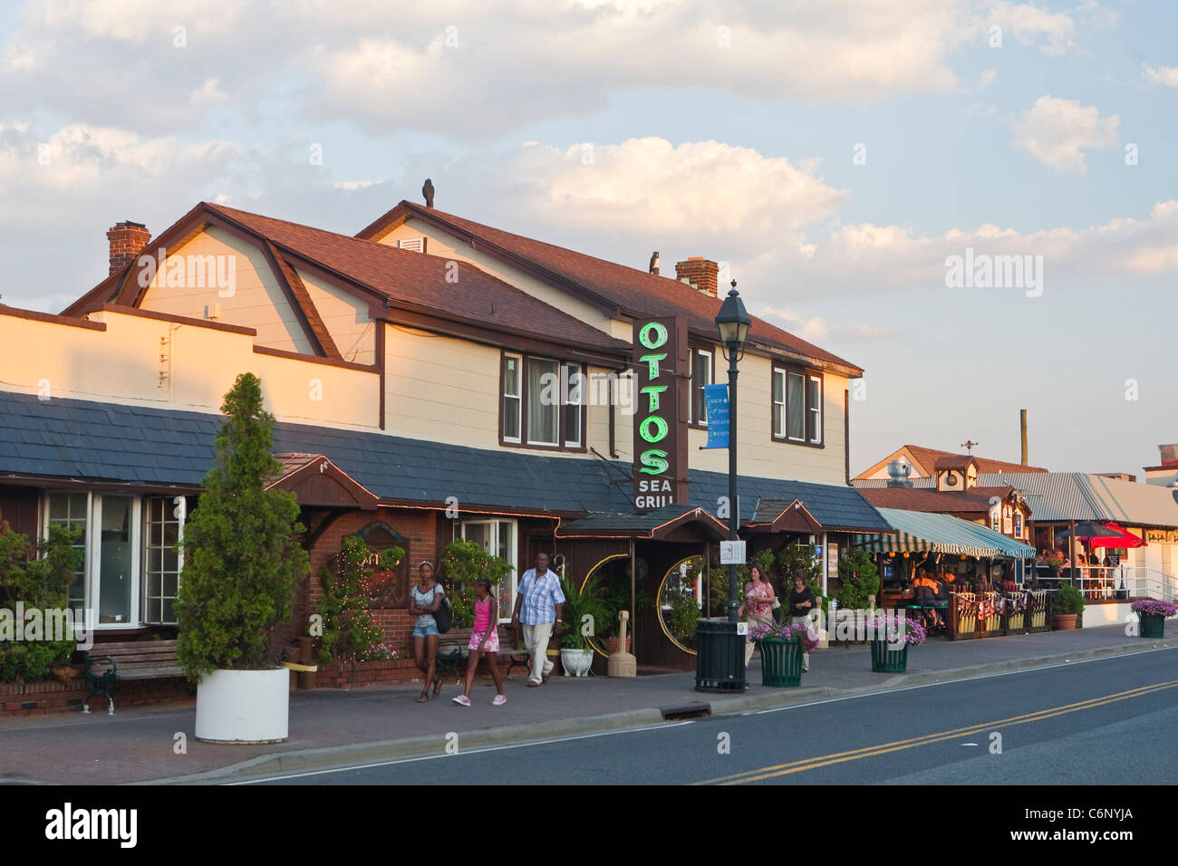 A sea grill is pictured on the Nautical Mile strip in Freeport, NY, Tuesday August 2, 2011. - Stock Image