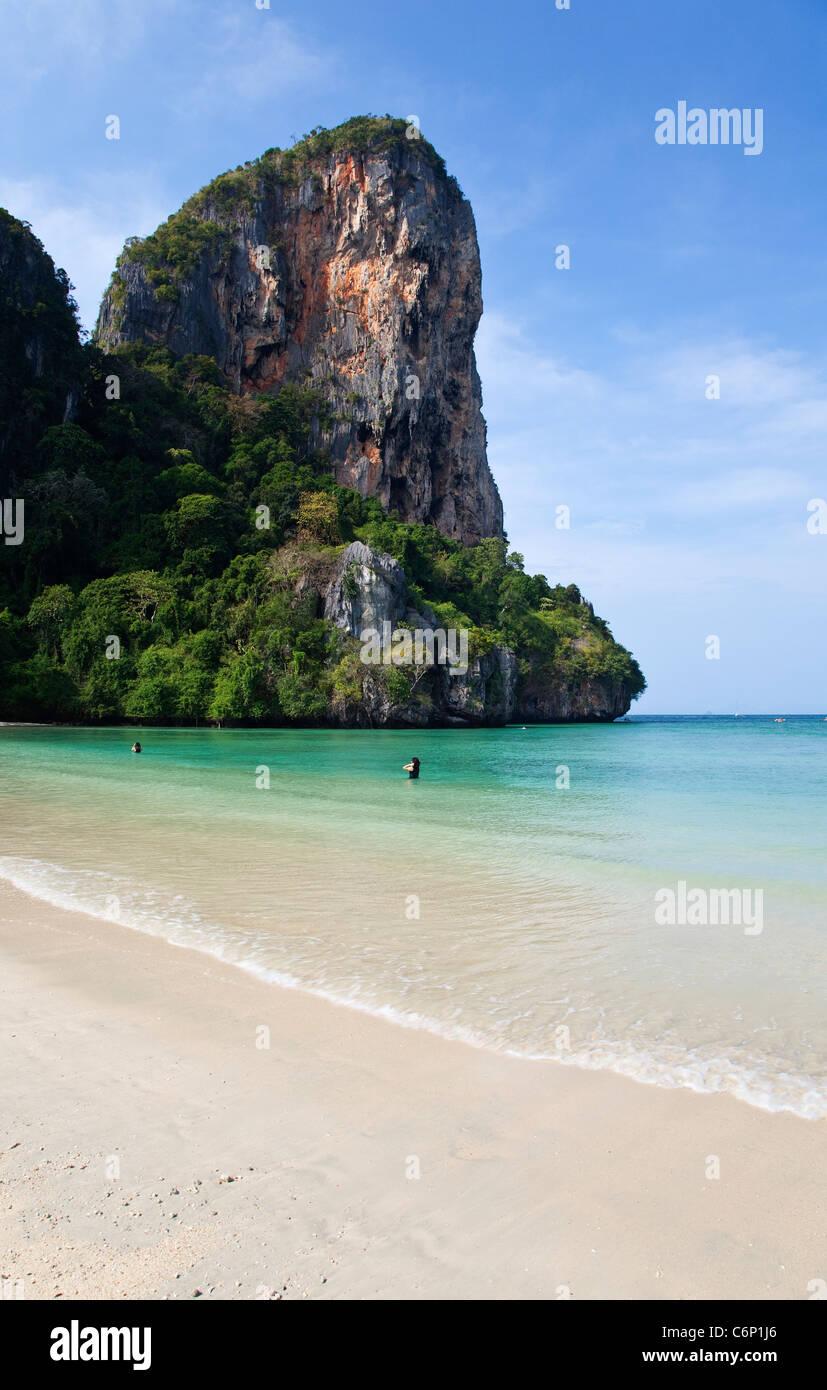 Railay Beach, Krabi, Thailand - Stock Image