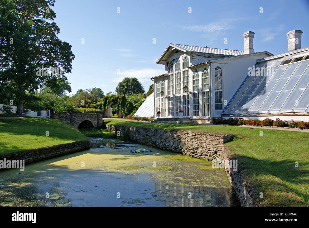 The house and the channel - Stock Image