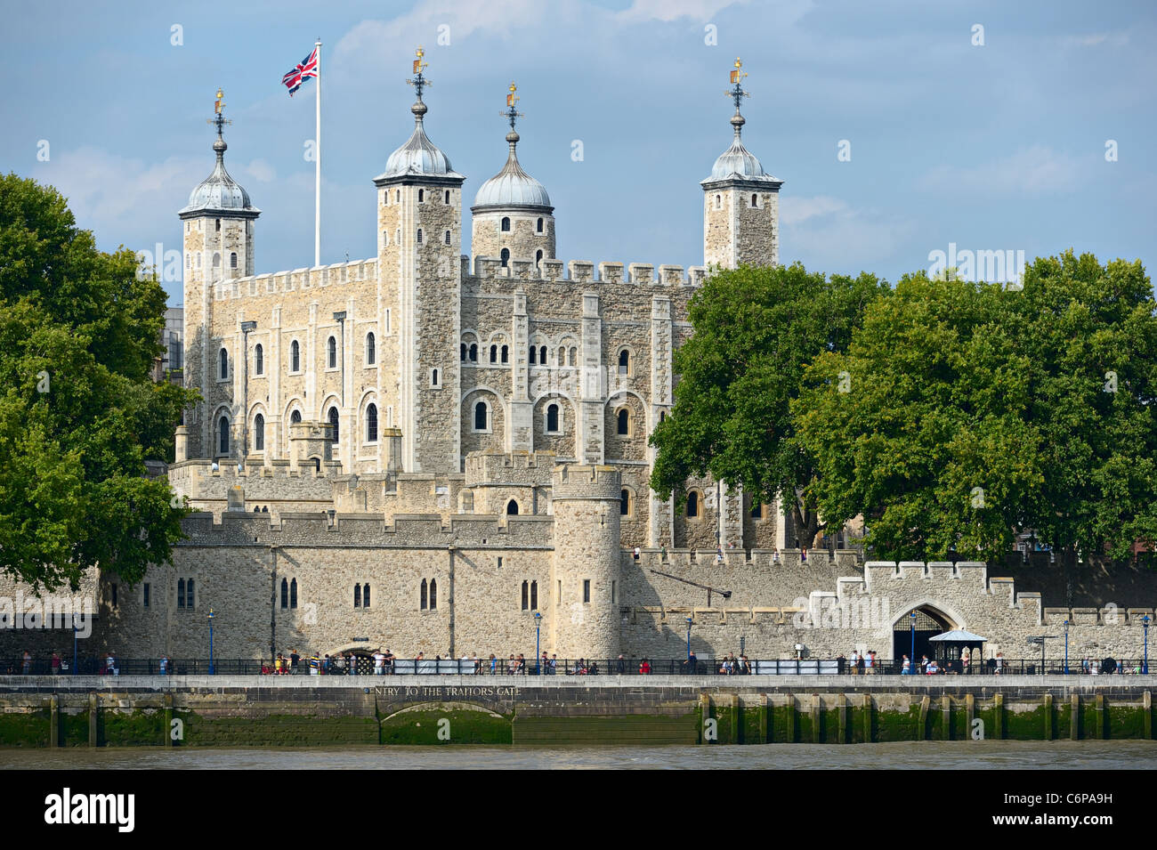 White Tower of Her Majesty's Royal Palace and Fortress -- the Tower of London Stock Photo