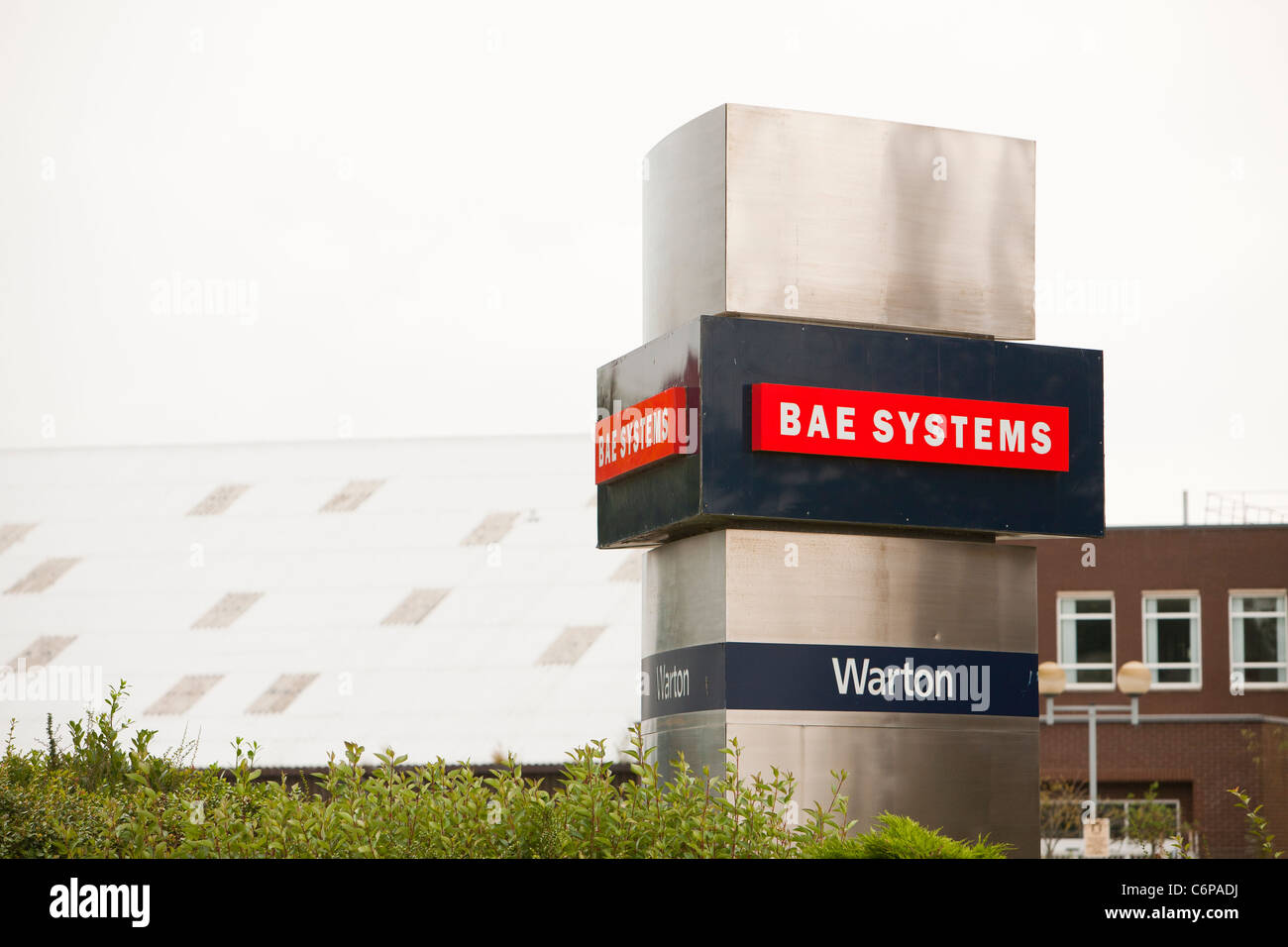 BAE systems plant at Warton in Lancashire, UK. - Stock Image