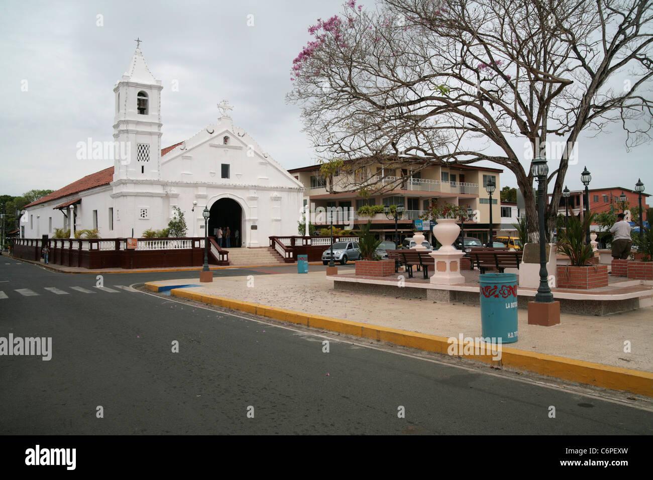 Las Tablas Los Santos Panama Main Plaza And Santa Librada Church Stock Photo Alamy