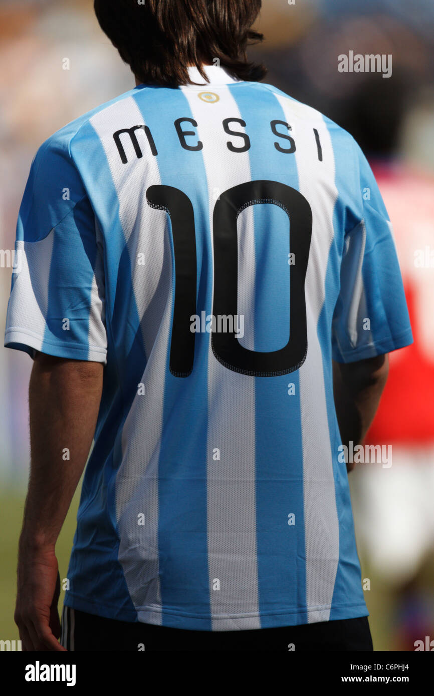 quality design e7608 ddfc3 Lionel Messi Argentina Jersey Stock Photos & Lionel Messi ...