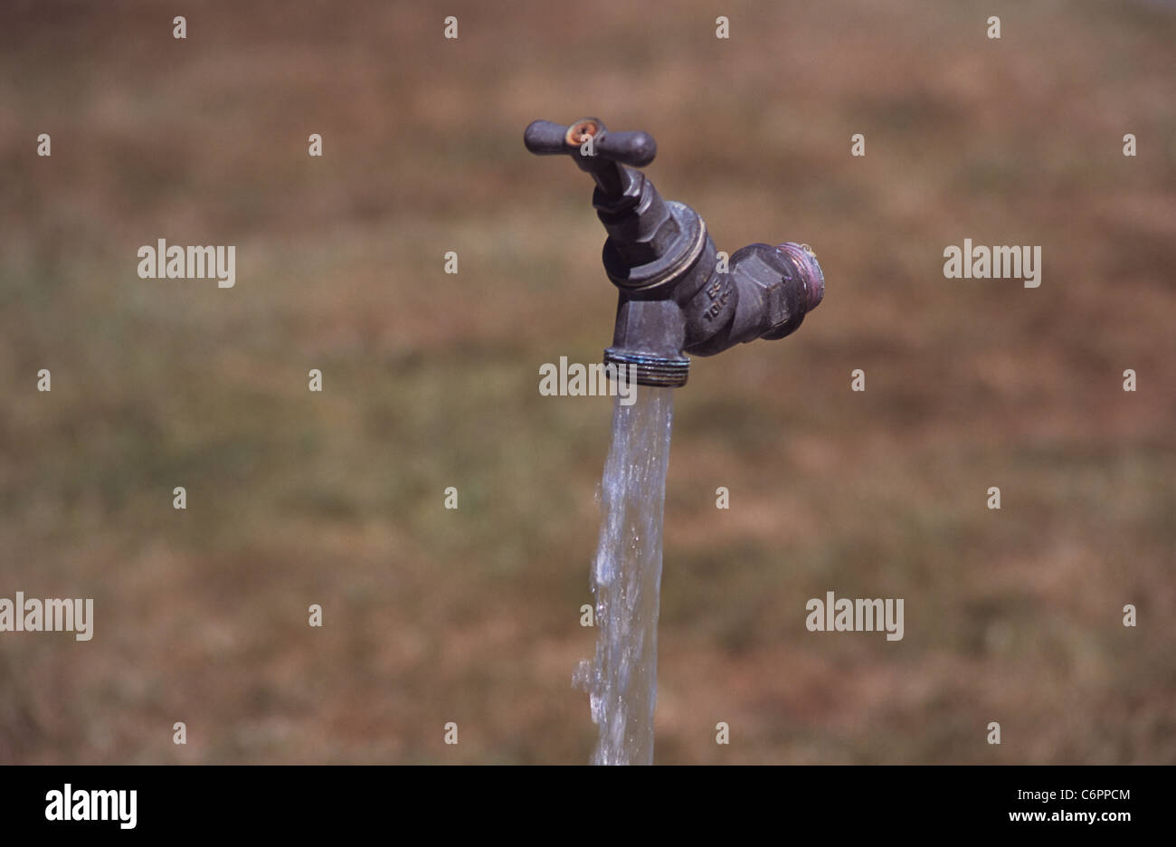 pipeless tap fountain - Stock Image