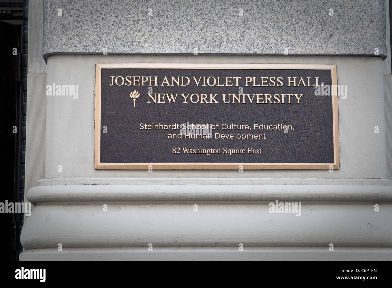 Joseph and Violet Pless Hall of the New York University is pictured in the New York City borough of Manhattan - Stock Image
