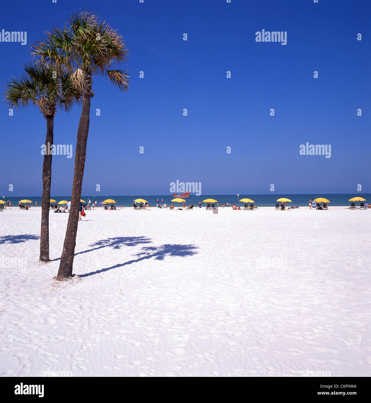 Beach view, Clearwater, Florida, United States of America - Stock Image