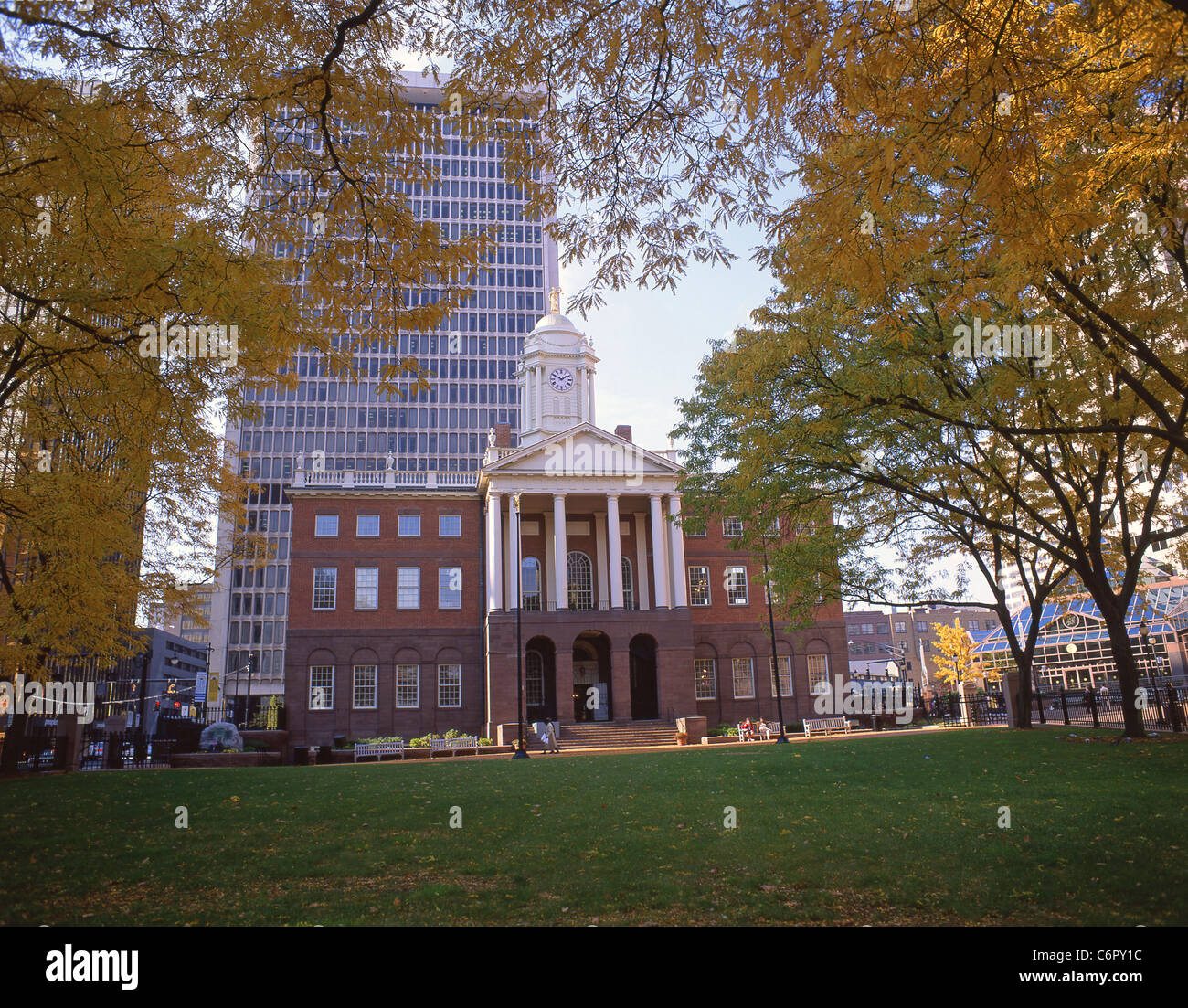 Old State House in fall, Hartford, Connecticut, United States of America Stock Photo
