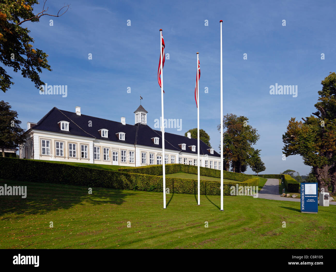 The Sophienberg Palace in Rungsted Kyst - the most beautiful conference center in North Zealand, Denmark - Stock Image