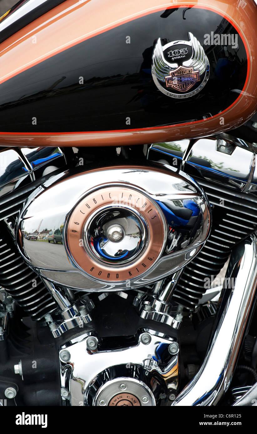 Harley Davidson 'Road King' motorcycle - Stock Image
