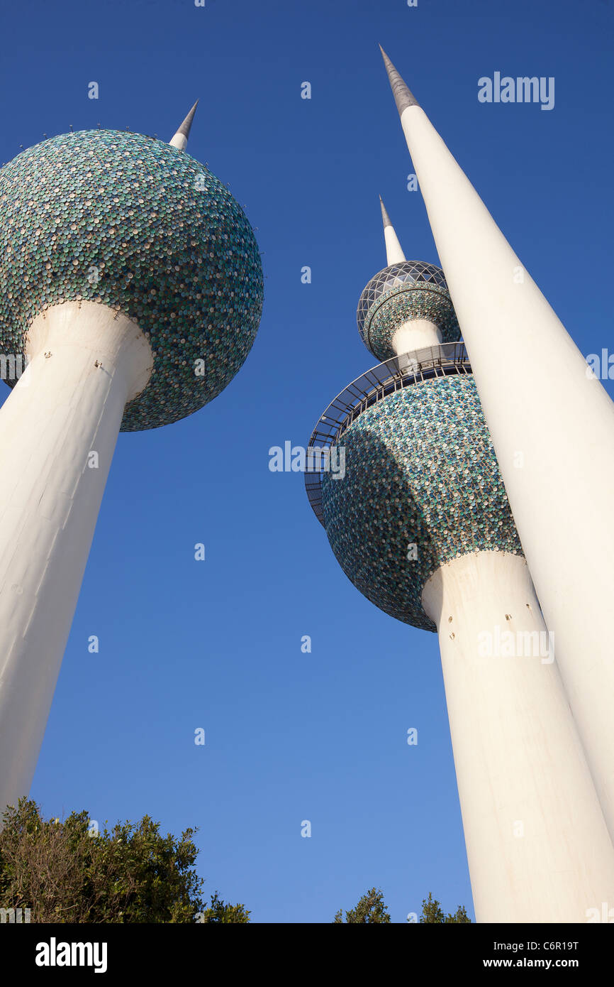 Kuwait Towers - Stock Image