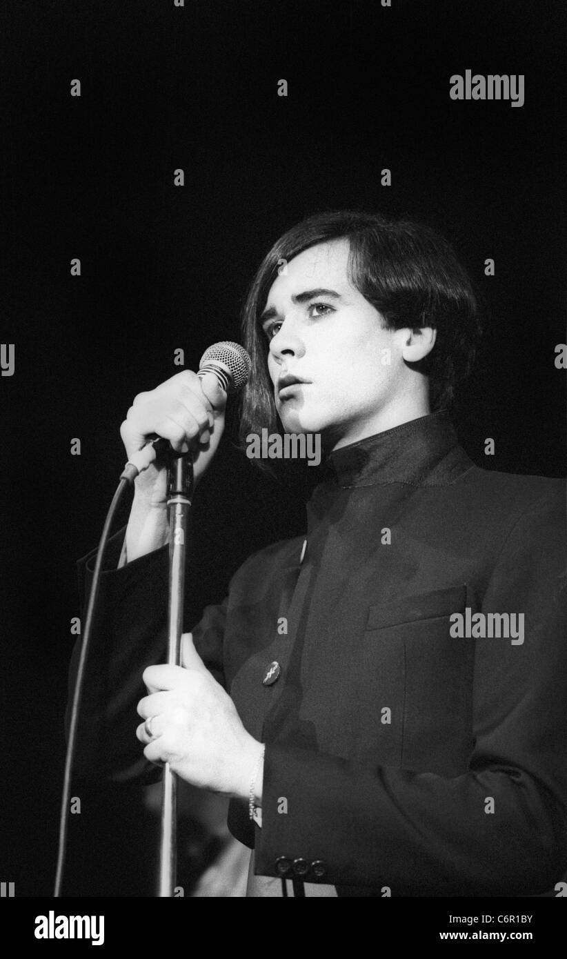 Phil Oakey and The Human League, in concert at Sheffield Polytechnic 1979 - Stock Image