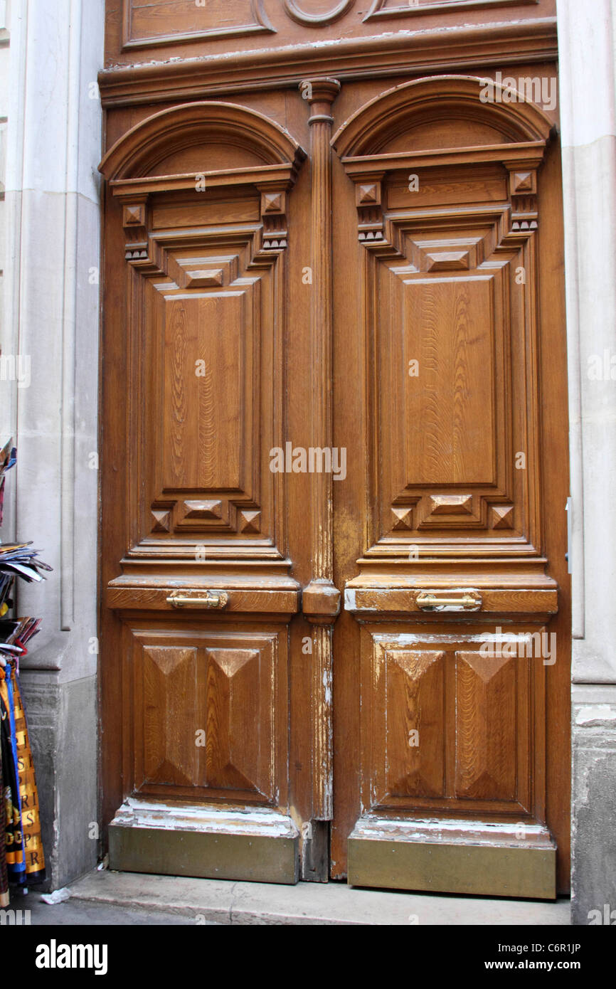 Antique French Front Doors Period Architecture Stock Photo 38614878