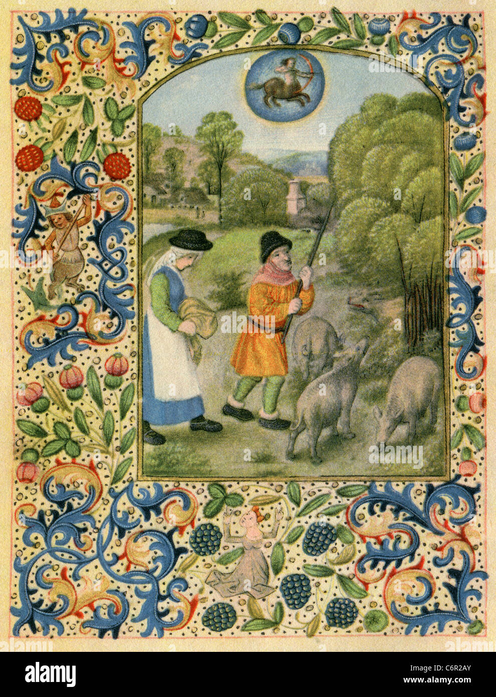 Images from a Flemish Book of Hours  November  Sagittarius