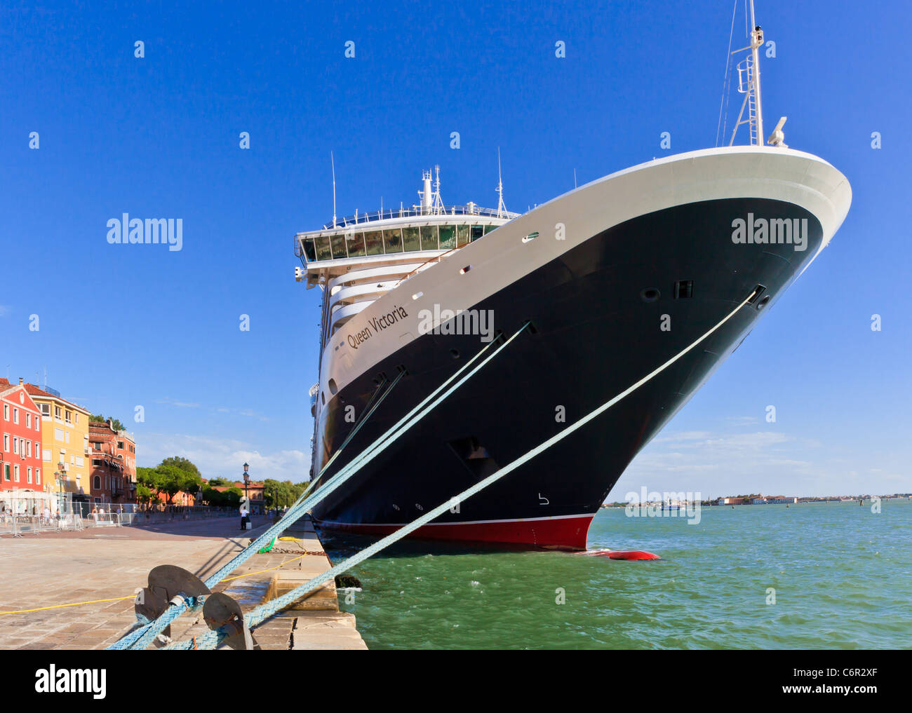 Cruise liner Queen Victoria at Venice harbour, Veneto, Italy - Stock Image