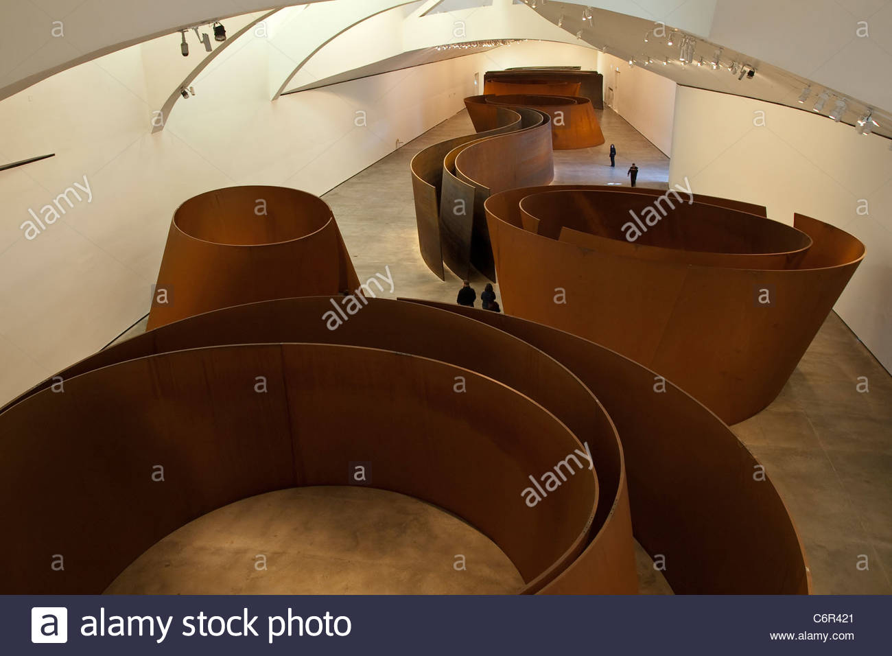 Frank Gehry's Fish space at Guggenheim Bilbao museoa, Bilbao, Basque country, Euskadi, Spain. Stock Photo