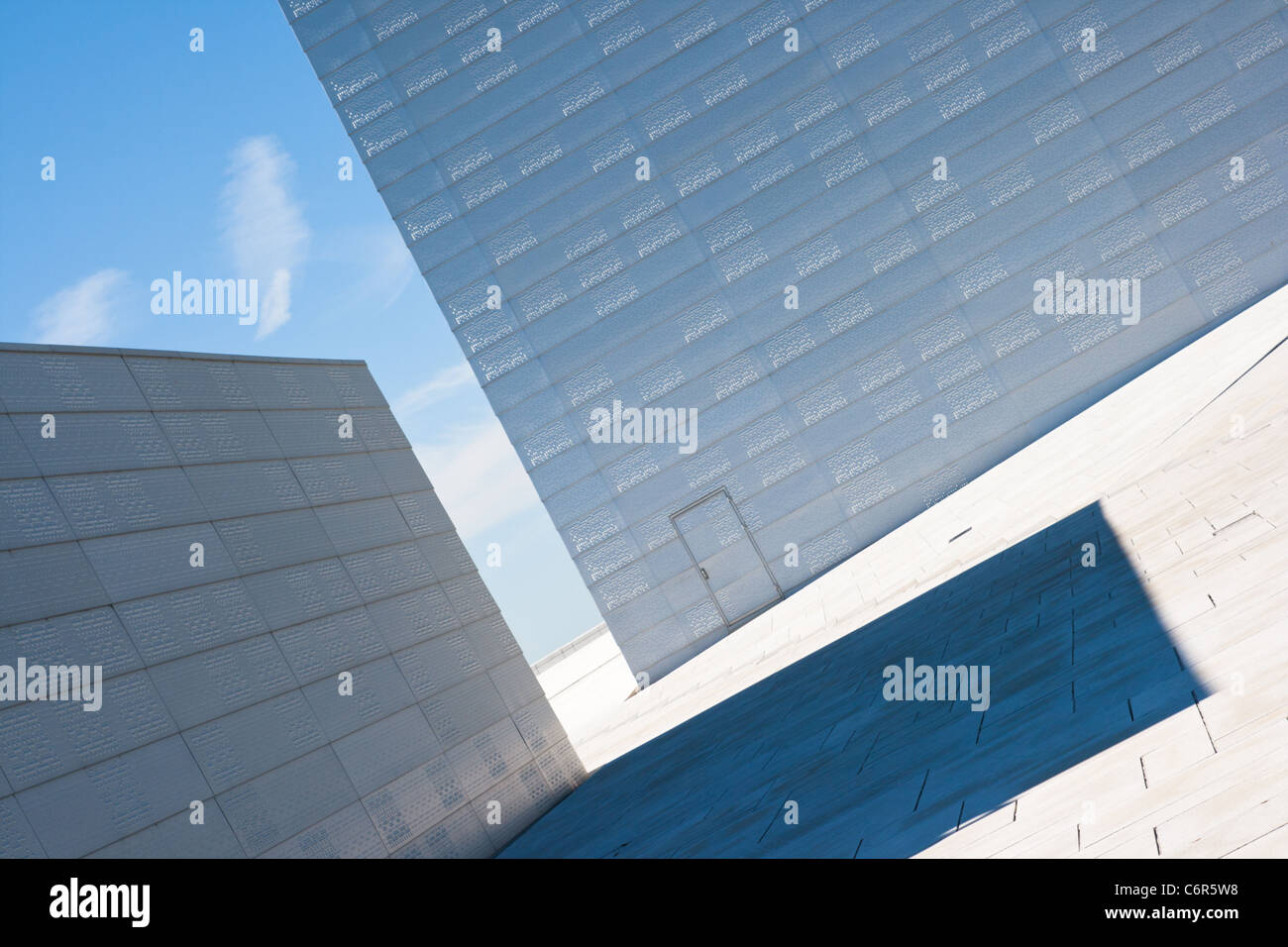 Abstract view on the National Oslo Opera House - Stock Image
