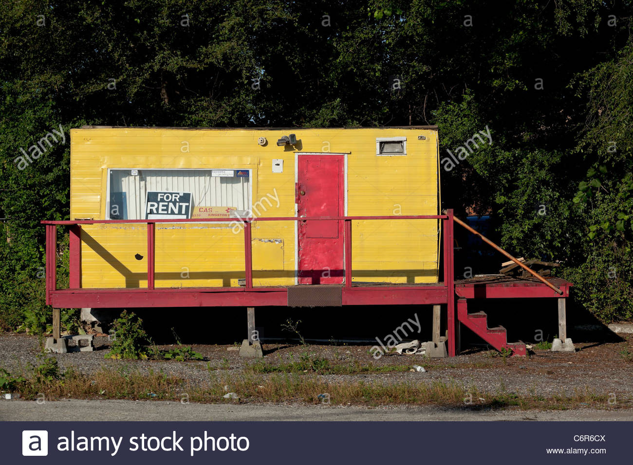 Mobile home for rent formerly used as a used car lot office in Stock on mobile home beautiful, mobile home company, mobile home decoration, mobile home road trip, mobile home sold,