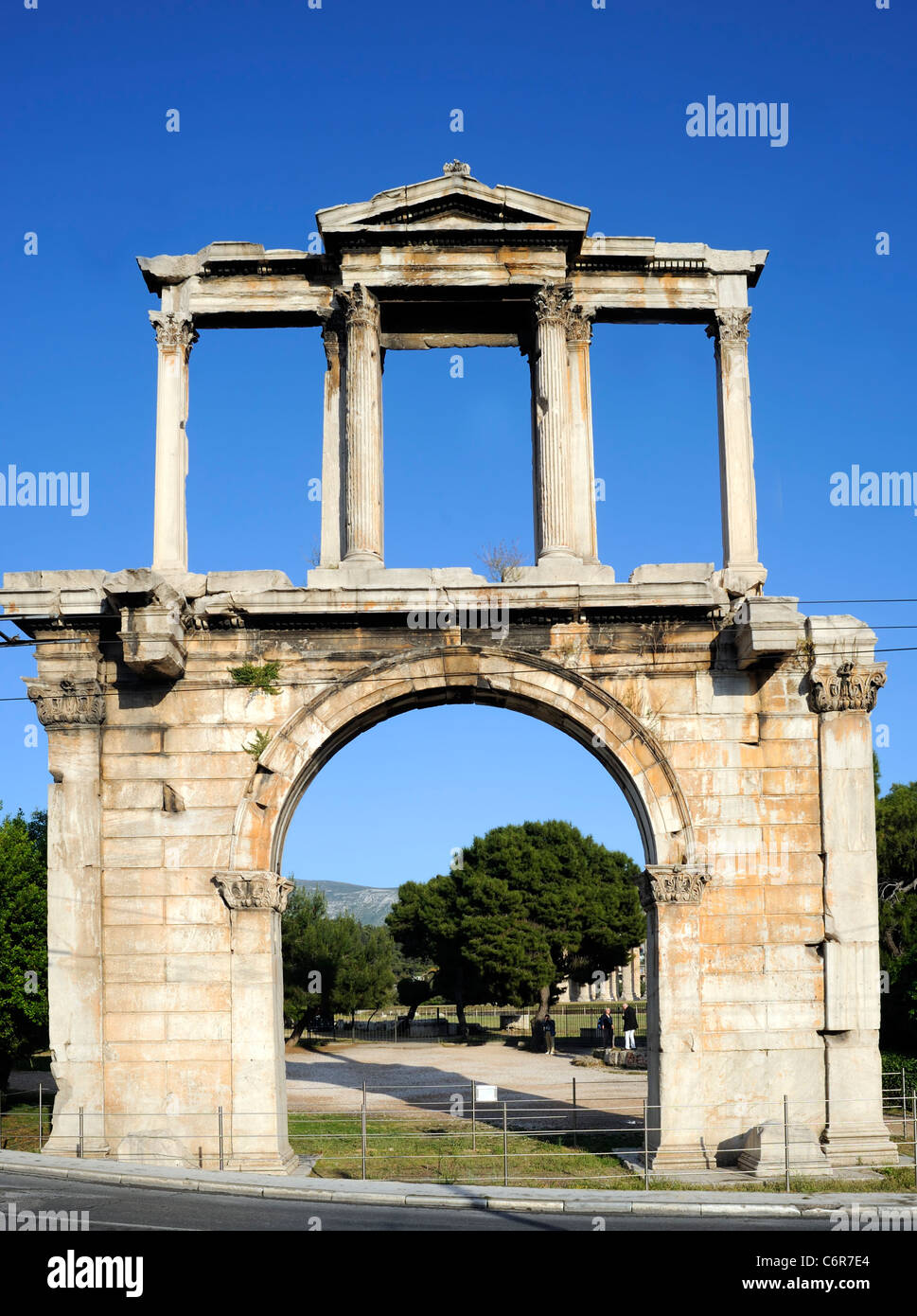 Athens, Greece, Hadrian's arch - Stock Image