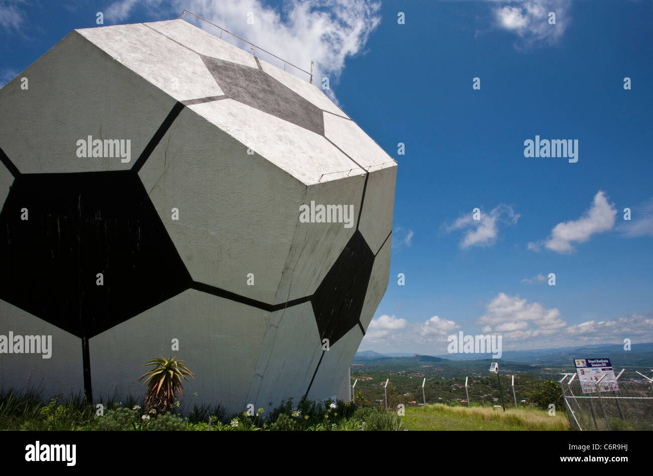 A Dodecahedron Water Reservoir Overlooking Nelspruit Decorated As Football To Commemorate The 2010 World Cup