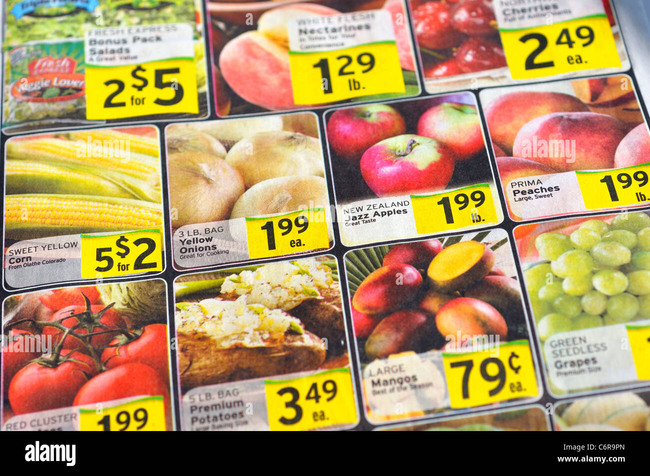 grocery store flyer stock photo 38621261 alamy