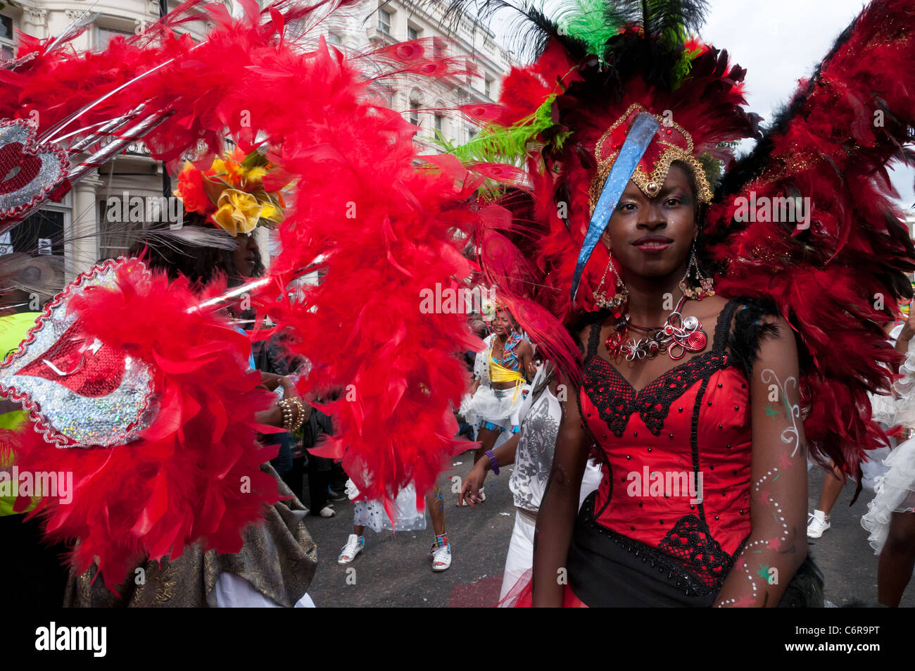 West Indies Dance and music band at Notting Hill carnival 2011. London. England - Stock Image