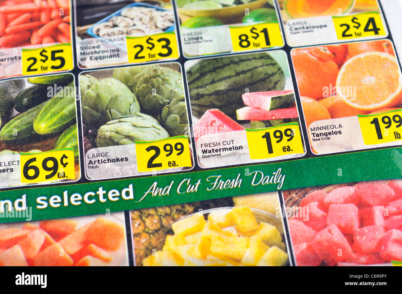 grocery store flyer stock photo 38621267 alamy