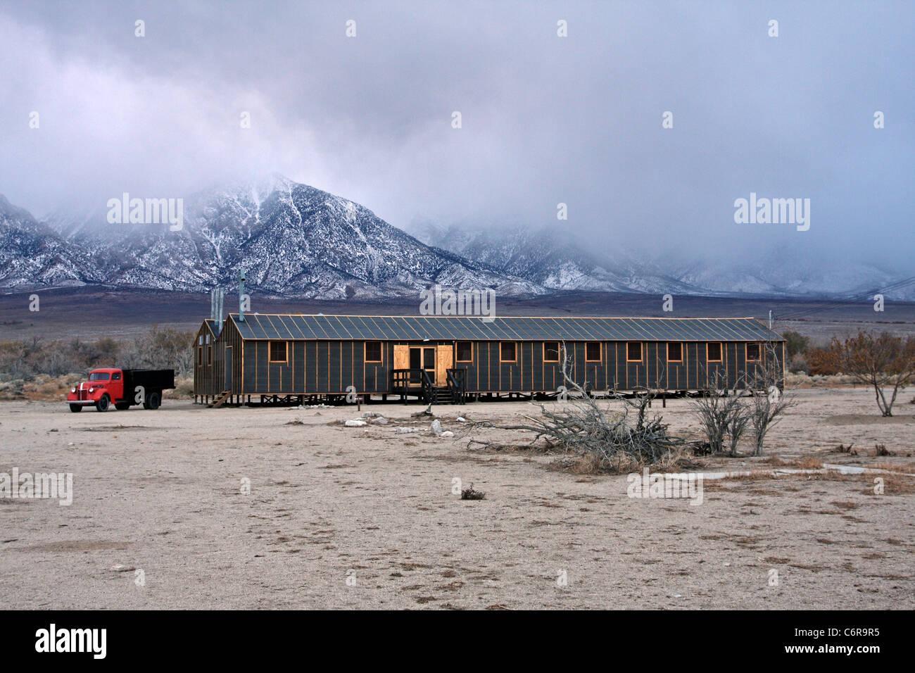 Restored Mess Hall at Manzanar National Historic Site - Stock Image