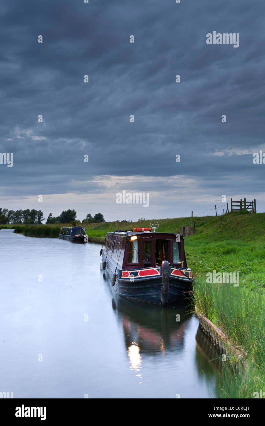 Narrowboat on the Great Ouse - Stock Image