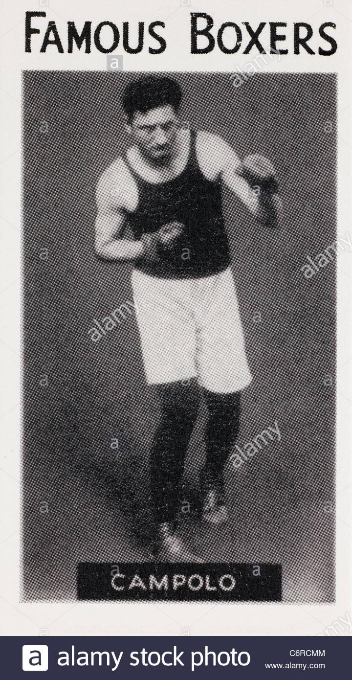 Famous boxer Vittorio Campolo heavyweight boxer.  EDITORIAL ONLY - Stock Image