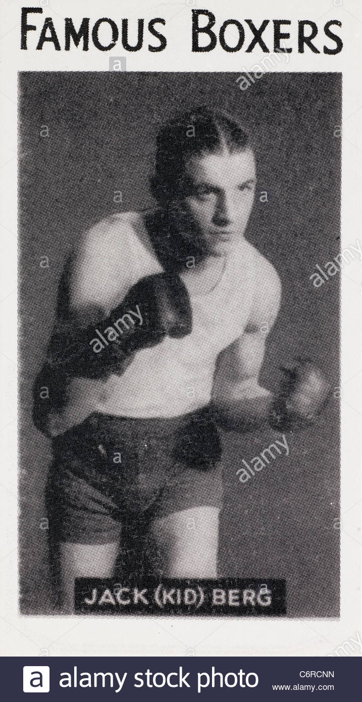 Famous boxer Jack (Kid) Berg champion lightweight boxer. EDITORIAL ONLY - Stock Image