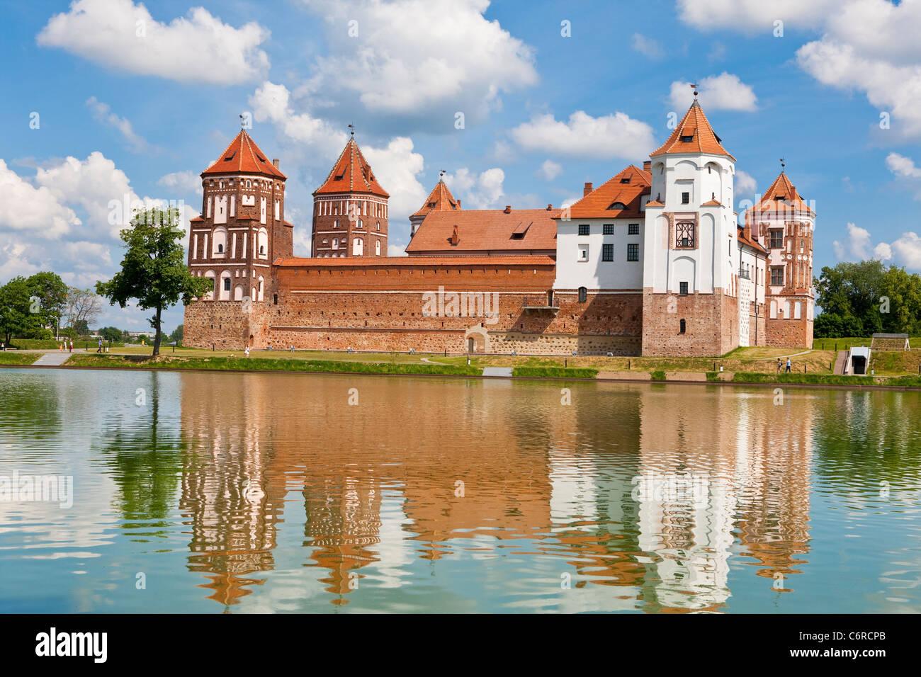 Mir Castle Complex in Belarus - Stock Image